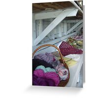 Yarn Basket Greeting Card