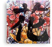Flower Kanji Metal Print