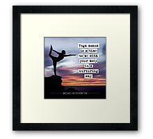 Yoga Asana is Nurturing Framed Print
