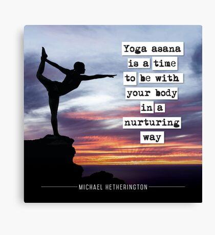 Yoga Asana is Nurturing Canvas Print