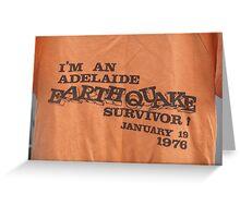 Adelaide earthquake Greeting Card