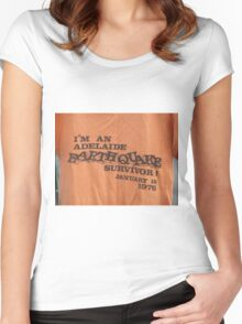 Adelaide earthquake Women's Fitted Scoop T-Shirt