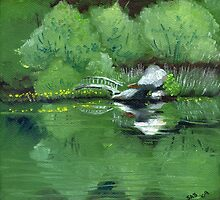 Lake at Boulder Woods Campgrounds by artbysas