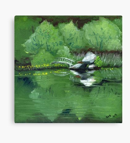 Lake at Boulder Woods Campgrounds Canvas Print