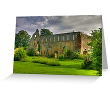 Jervaulx Abbey #1 Greeting Card