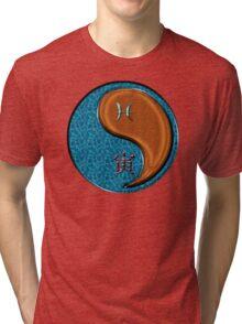 Pisces & Tiger Yang Wood Tri-blend T-Shirt