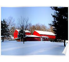 Barn 8_Eden Mill Barns in the Snow Poster