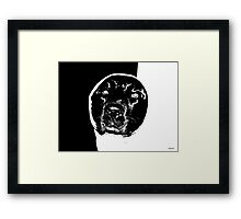 Canine Ying & Yang Framed Print