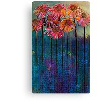 Sun Drenched Coneflowers: Analog gone Digital painting by Alma Lee Canvas Print