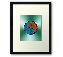 Pisces & Tiger Yang Wood Framed Print
