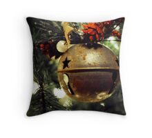 Ring, Christmas Bell Throw Pillow