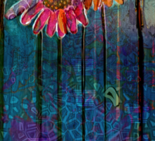 Sun Drenched Coneflowers: Analog gone Digital painting by Alma Lee Sticker