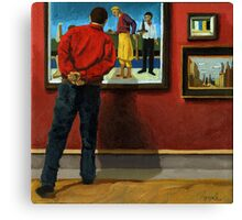 In the Red - oil painting Canvas Print