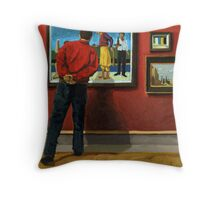 In the Red - oil painting Throw Pillow