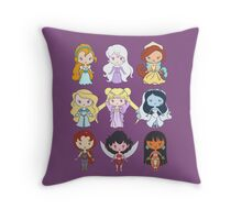 Lil' CutiEs - Alternate Princesses Group One Throw Pillow