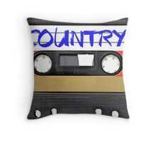 Country Cassette Tape Throw Pillow