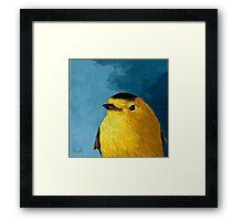 Baby Warbler - bird painting Framed Print