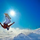 Snowboarding (Upside down) by Árni  Tryggvason