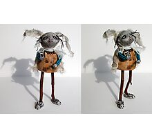 """""""B"""" is for Bunny - sculpture,art doll Photographic Print"""
