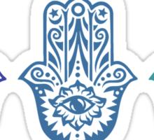 Triple Blue Hamsa Sticker