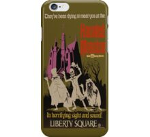 WDW Haunted Mansion Poster iPhone Case/Skin