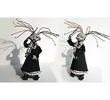 Electrifying Conductor - art doll sculpture, goth Photographic Print