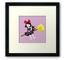 Kiki Red Framed Print