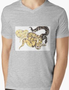 Ball Pythons Pencil Drawing Mens V-Neck T-Shirt