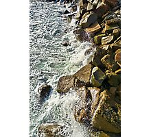 Redondo Beach Pier Waves Crashing  Photographic Print