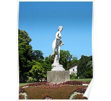 Statue, park of Tête d'Or, Lyon Poster