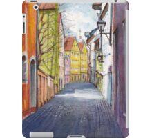 Narrow alley in Regensburg, Germany iPad Case/Skin