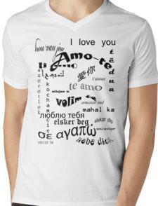Amo-te Mens V-Neck T-Shirt