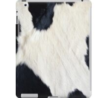 Cowhide Black and white iPad Case/Skin