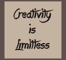 Homage/Creativity is Limitless  Kids Clothes