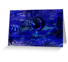 Blunt Fish Blue Greeting Card