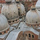 The top of St. Marks Cathedral in Venice by Sherri Fink