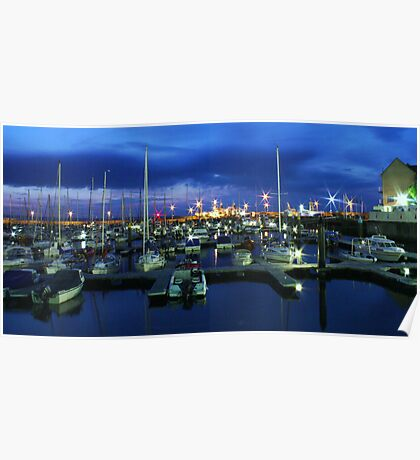 Bangor Marina at Night Poster
