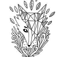 Sketch fox by kostolom3000