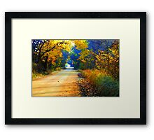 Barefoot Lane Framed Print