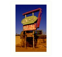 Lasso Motel -- Route 66 Art Print