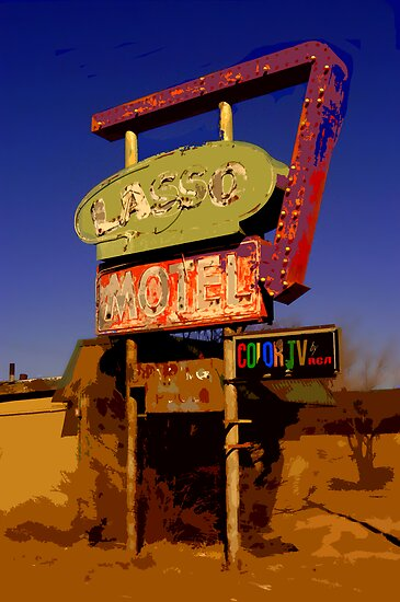Lasso Motel -- Route 66 by Christine Elise McCarthy