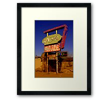 Lasso Motel -- Route 66 Framed Print