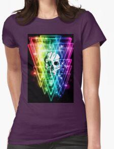 Retro Skull Womens Fitted T-Shirt