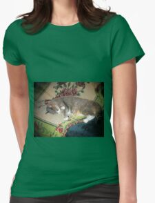 Monkey The Cat... Womens Fitted T-Shirt