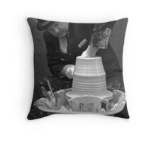 The Suited Potter Throw Pillow
