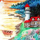 gardens of the red lighthouse by LoreLeft27