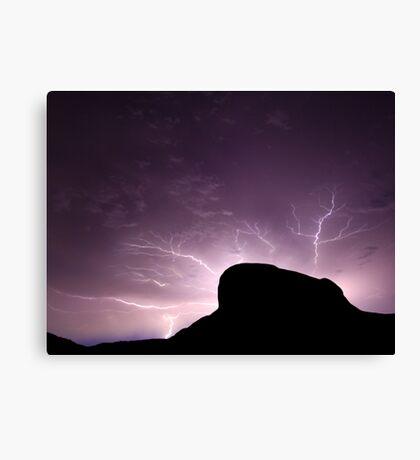 Lightning Rock Canvas Print