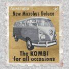Volkswagen Kombi Tee Shirt - Splitty Stamp by KombiNation