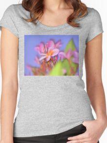 Fabulous Frangipani  Women's Fitted Scoop T-Shirt
