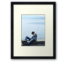 Contemplating Framed Print